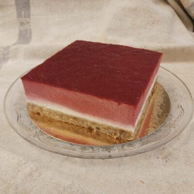 Framboos slagroom kwark carré